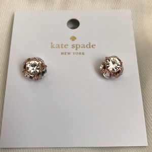 NWT Kate Spade Lady Marmalade Rose Gold Earrings